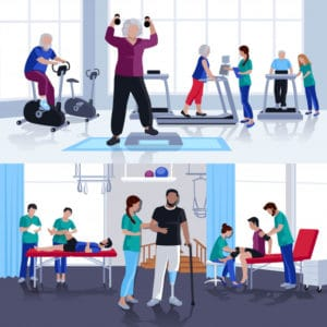 Illustrative image of physiotherapy rehabilitation centre in Chennai